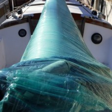Shrink-wrapped Mast