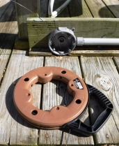 """A 1/8"""" gauge fish tape slips easily around bends."""